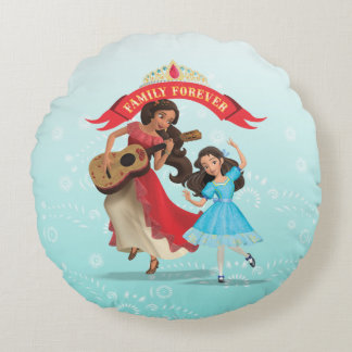 Elena & Isabel | Sister Time Round Pillow