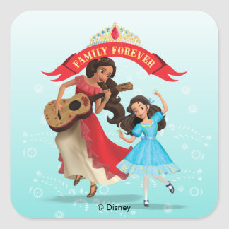 Elena & Isabel   Sister Time Square Sticker