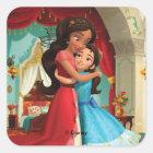 Elena | Little Sister. Big Sister. Square Sticker