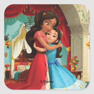 Elena | Little Sister. Big Sister. Square Sticker
