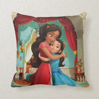 Elena   Little Sister. Big Sister. Throw Pillow
