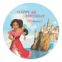 Elena of Avalor   Birthday Classic Round Sticker