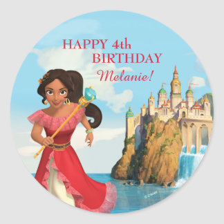 Elena of Avalor | Birthday Classic Round Sticker
