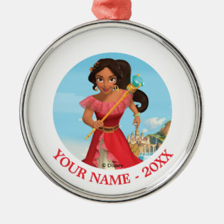 Elena   Protector of the Kingdom Add Your Name Metal Ornament