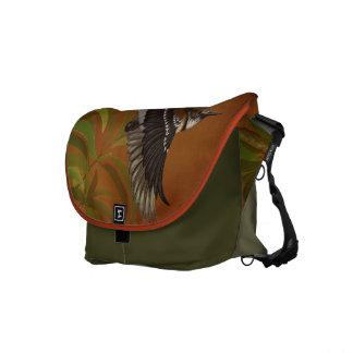 'Elepaio (Hawaiian Flycatcher) and Koa Courier Bag