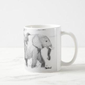 Elepephants Wraparound Classic White Coffee Mug
