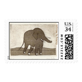 Elephand Postage Stamp