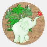 elephant1 pegatinas redondas