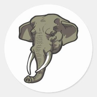 Elephant-01 Pegatina Redonda