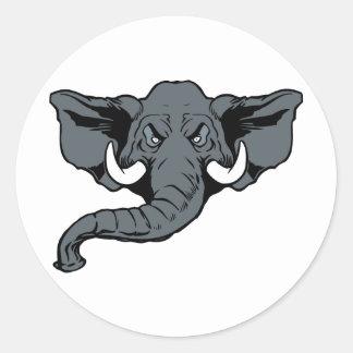 Elephant-03 Pegatina Redonda