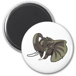 Elephant-07 Imán Redondo 5 Cm