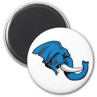 Elephant-10 2 Inch Round Magnet