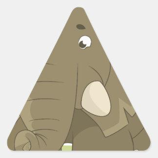 elephant-1598359 pegatina triangular