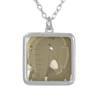 elephant-1598359 silver plated necklace