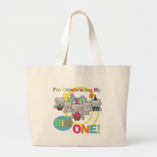 Elephant 1st Birthday T shirts and Gifts Large Tote Bag