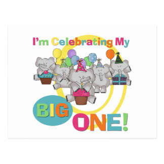 Elephant 1st Birthday T shirts and Gifts Postcard