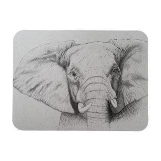 Elephant 2011 rectangular photo magnet