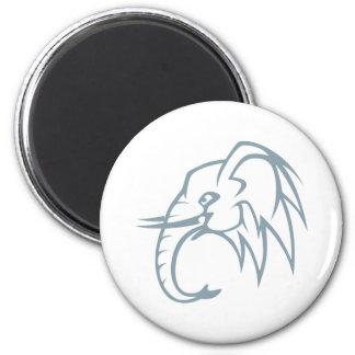 Elephant 2 Inch Round Magnet