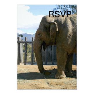 Elephant 3.5x5 Paper Invitation Card