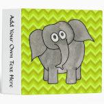 Elephant. 3 Ring Binder