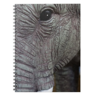 elephant-543256 Grey elephant photography close-up Spiral Notebook