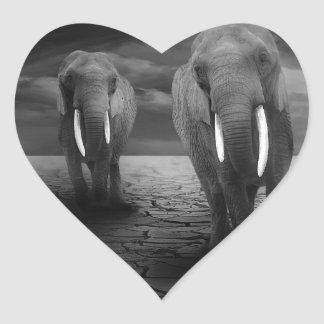 elephant-5900 heart sticker