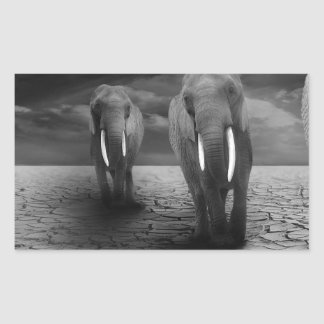 elephant-5900 rectangular sticker