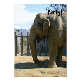 Elephant 5x7 Paper Invitation Card