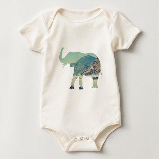 Elephant Adventure Baby Bodysuit
