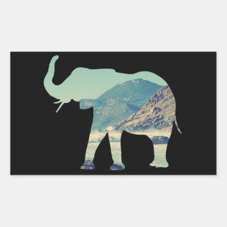 Elephant Adventure Rectangular Sticker