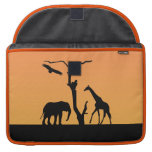 Elephant african sunset silhouette macbook sleeve sleeve for MacBooks