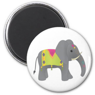 Elephant All Dressed Up 2 Inch Round Magnet