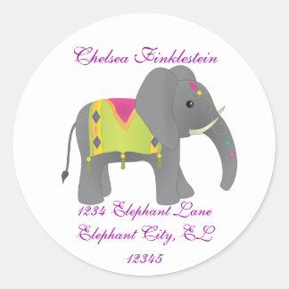 Elephant All Dressed Up Classic Round Sticker