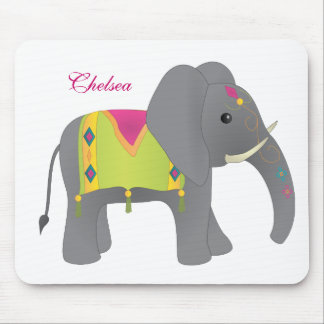Elephant All Dressed Up Mouse Pad