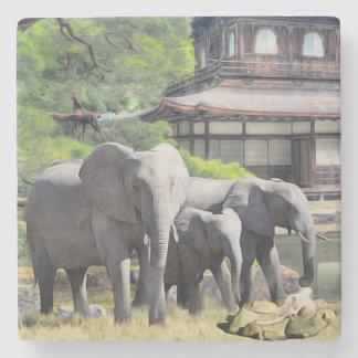 Elephant Ancestors Marble Coaster