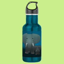 Elephant and a baby water bottle