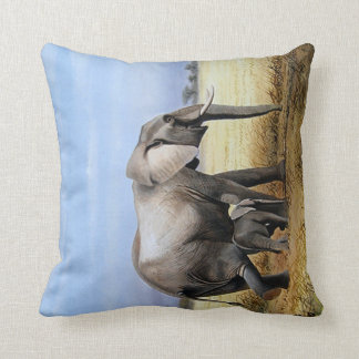 Elephant and a calf pillow