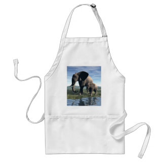 Elephant and Baby Adult Apron