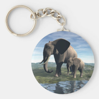 Elephant and Baby Key Chains