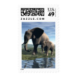 Elephant and Baby Postage