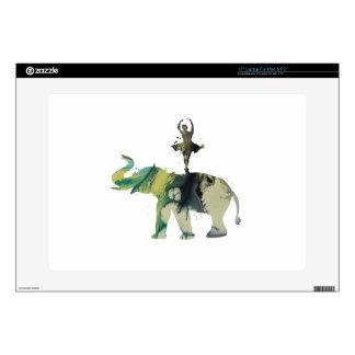 "Elephant and ballerina 15"" laptop decal"