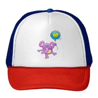 Elephant and balloon. trucker hat