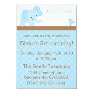 Elephant and Bird Party Invitation