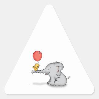 Elephant and Bird Triangle Sticker