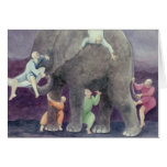 Elephant and Blind Men Greeting Card