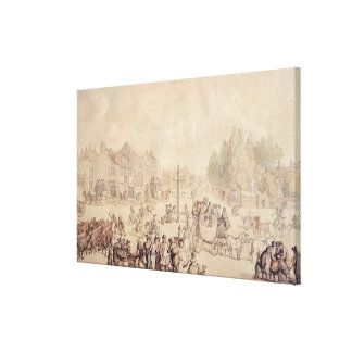 Elephant and Castle Canvas Print