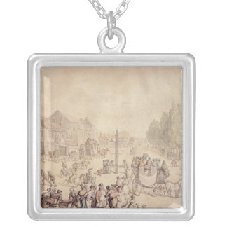 Elephant and Castle Silver Plated Necklace