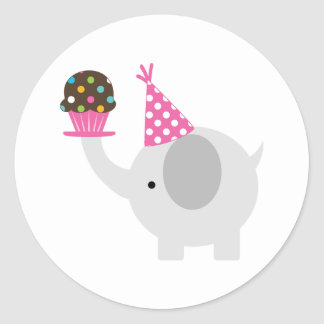 Elephant and Cupcake Stickers