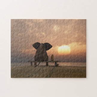 Elephant and Dog Friends Puzzle