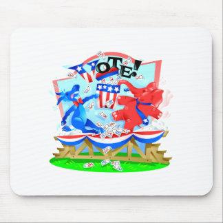 Elephant and Donkey VOTE Illustration Mouse Pads